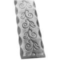 "Aluminum Handrail Etched w/Vine.  1-9/16"" W"