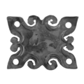 "Forged Decorative Base Plate,3-15/16"" H x 5-5/16"" Width"