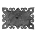 "Forged Decorative Base Plate,4-5/16"" H"