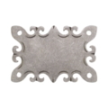 "Forged Decorative Base Plate, 4-3/8"" H"