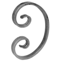"[AA] Forged Steel C Scroll. 3-3/4"" Width, 5-1/2"" Height."