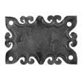 "Forged Decorative Base Plate, 4-3/4"" H"