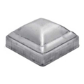 "Galvanized Pressed Post Cap. High Dome. Fits 2"" Square."