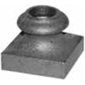 "Cast Iron Shoe, Satin Black, Fits 9/16"" Round."