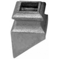 "Cast Iron Shoe, Satin Black, Fits 9/16"" Square."