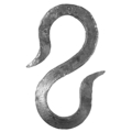 "Hand Forged Hook.  1-7/16"" Width, 3-1/8"" Height."