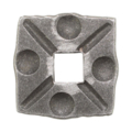 "Forged Steel Decorative Base Plate. Fits 9/16"" Square."