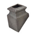 "Cast Iron Pitched Shoe. Fits 9/16"" Square"