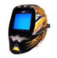 "Dragon Fire Welding Helmet with x540 Variable 12.6"" Lens."
