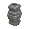 "Cast Steel Collar. 2-11/16"" Height, Fits 1/2"" Square."