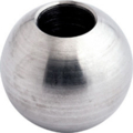 "Stainless Steel Satin Finish,Crossbar Ball FInial 3/4"" Dia"