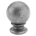 "Cast Steel Finial, 3-1/2"" Ball. 2-3/4"" Solid Base, 5"" Height"