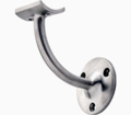 "Stainless Steel Handrail Bracket, Satin.  For 2"" Tube."