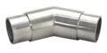 "Stainless Steel Flush 135 Angle, Satin.  Fits 1.5"" Tube."