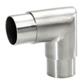 "Stainless Steel Flush Ell 90 Angle, Satin.  Fits 2"" Tube."