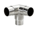 "Stainless Steel Flush Side Outlet Ell, Satin. Fits 1.5"" Tube"