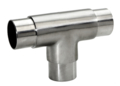 "Stainless Steel Flush Tee, Polished.  Fits 2"" Tube."