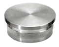 "Stainless Steel Knurled End Cap, Polished.  Fits 2"" Tube."