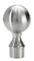"Stainless Steel Ball Finial, Satin. Drives in 1.5"" Tube."