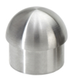"Stainless Steel Half-ball Rounded End Cap.  Fits 1.67"" Tube."
