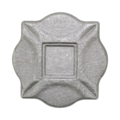 "Cast Steel Decorative Base Plate. 4"" Square"