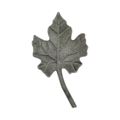 "Cast Steel Grape Leaf. 2-15/16"" Width, 5"" Height."