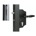 Locinox Ornamental Swing Gate Lock w/ keeper Black Kit