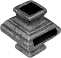 "Cast Steel Knuckle. Fits 1/2"" Sq. Slides through 25mm Flat."