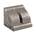 "Cast Steel Corner Bracket for 1/4"" Sheet Metal.  2"" Wide."