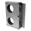 "Steel Lock Box,1-5/16"" Wide, Double Box. 6-7/8"" H"
