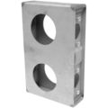 "Steel Lock Box, 1-5/16"" Wide, Double Box. 6-7/8"""