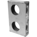 "Steel Lock Box, 1-1/2""Wide, Double Box w/o Bolt."