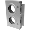 "Steel Lock Box, 1-1/4"" Wide, Double Box. 6-3/4"" H"