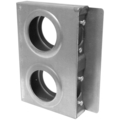 "Steel Lock Box, 1"" Wide DoubleBox. 7-1/2"" H"
