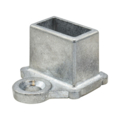 "Zinc Shoe. Fits 1/2"" x 1"" Rectangle"