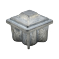 "Zinc Alloy Plug. 1"" Height, Drives In 1"" Square."