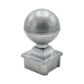 "Zinc Alloy Post Ball. 2-1/2"" Height, Fits 1"" Square."