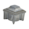 "Zinc Alloy Plug. 1-1/4"" Height, Drives In 1-1/2"" Square."