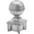 "Zinc Alloy Ball.  2-7/8"" Height, Drives In 1-1/2"" Square."