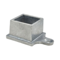"Zinc Shoe w/1 Ear. Fits 1-1/2""Square"