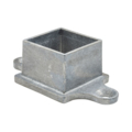 "Zinc Shoe w/2 Ears. Fits 1-5/8"" Square"