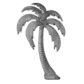 "Aluminum Palm Tree Right Facing 13-3/4"" W, 23"" H"