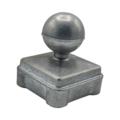 "Zinc Alloy Post Cap. 2-3/4"" Height, Fits 2"" Square."