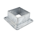 "Zinc Shoe w/4 Holes. 3"" Square, 2"" H"