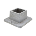 "Aluminum Shoe w/2 Holes. 1-9/16"" Height, Fits 1-1/4"" Square"