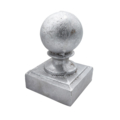 "Sand Cast Aluminum Post Ball. Fits 2"" Square"