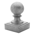 "Sand Cast Aluminum Post Ball.Fits 4"" Square"