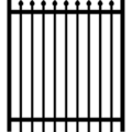 "Gate Pressed Point 1"" Rail 16g5/8 Picket 18g 70""x48"""