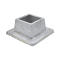 "Aluminum Shoe. 1-1/4"" Height, Fits 1-1/4"" Square."