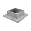 "Aluminum Shoe. 1-3/16"" Height, Fits 2"" Square."